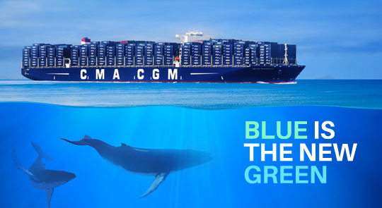 CMA CGM Environment Policy: blue is the new green