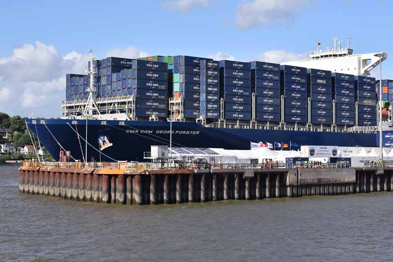 Copyright CMA CGM - The CMA CGM GEORG FORSTER in Hamburg
