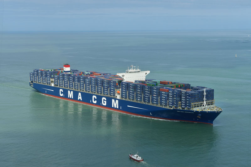 The CMA CGM KERGUELEN in le Havre