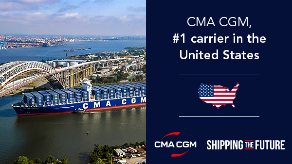 CMA CGM is #1 in the U.S.