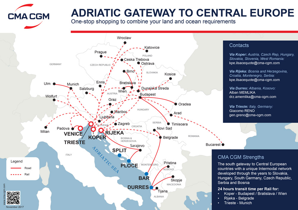Adriatic gateway to central Europe