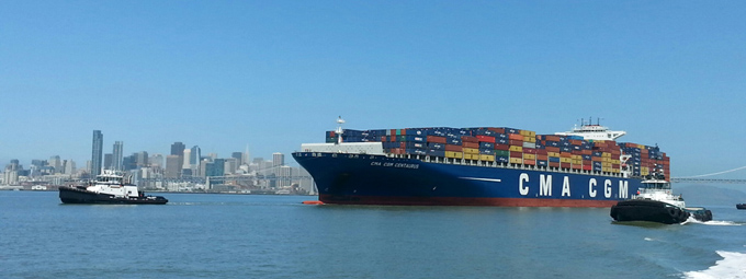 CMA CGM CENTAURUS towing exercise