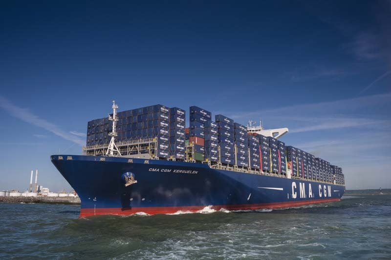 The 18,000 container capacity CMA CGM KERGUELEN