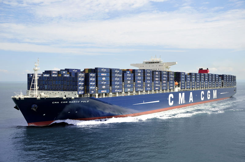 The CMA CGM MARCO POLO in Port Kelang