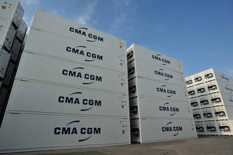 CMA CGM reefers containers