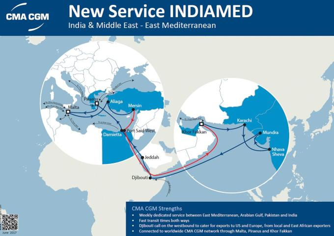New Service calling Piraeus : INDIAMED