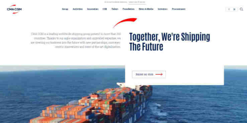 The CMA CGM Group strengthens its digital communication with the launch of a new corporate website and the transformation of its business site