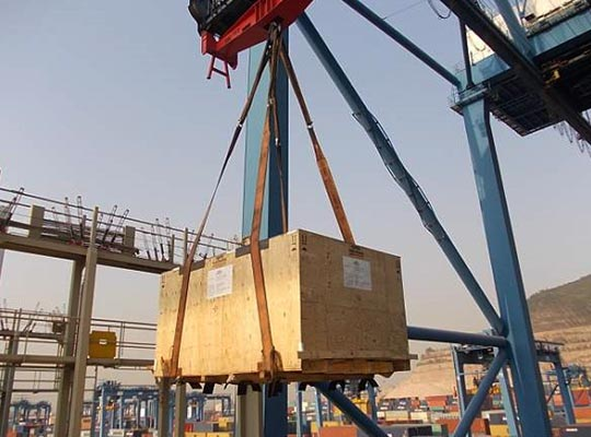 Crates protection before lifting